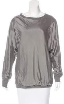 Brunello Cucinelli Silk Long Sleeve Sweater
