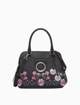 Calvin Klein saffiano floral print satchel