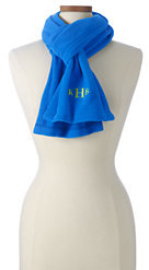 Lands' End Women's 100 Fleece Scarf-Pool Blue