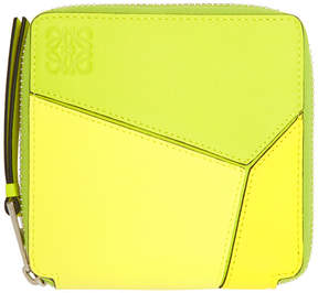 Loewe Yellow Small Puzzle Wallet