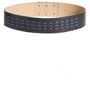 St. John Women's Woven Leather Belt