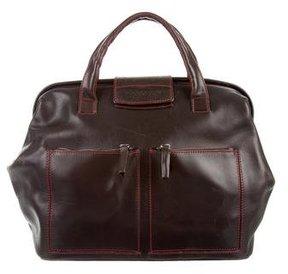 Hogan Leather Top Handle Bag