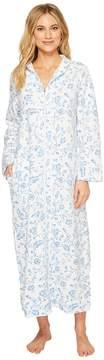 Carole Hochman Printed Long Zip Robe Women's Robe