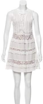 For Love & Lemons Lace-Trimmed Mini Dress
