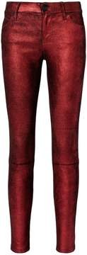 RtA Metallic Crimson Leather Pants