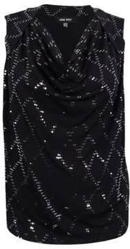 Nine West Women's Plus Size Embellished Diamond Shaped Top