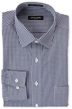 Pierre Cardin Navy Check Slim Fit Dress Shirt