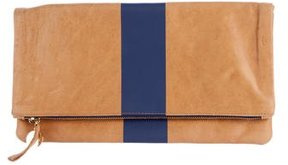 Clare V. Leather Fold-Over Clutch