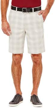 Haggar Men's Cool 18 Flat-Front Plaid Shorts