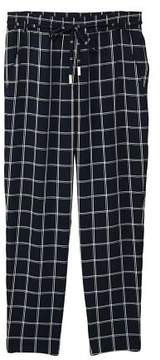 MANGO Check baggy pants