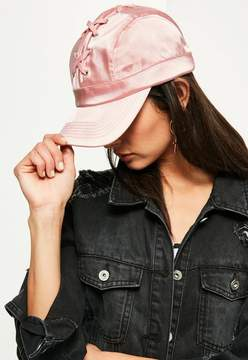 Missguided Pink Lace Up Cap
