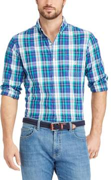 Chaps Men's Classic-Fit Gingham Easy-Care Button-Down Shirt
