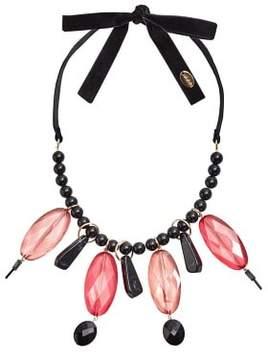 Violeta BY MANGO Pendant beads velvet necklace