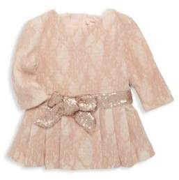 Billieblush Baby's & Toddler's Sequin Waistband & Tulle Knit Dress