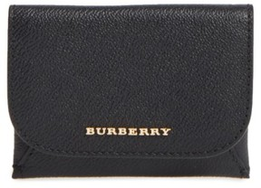 Burberry Women's Mayfield Leather Card Case - Black - BLACK - STYLE