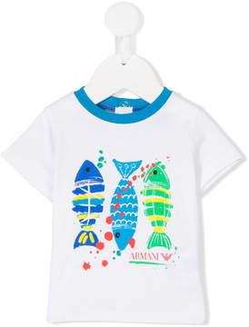 Emporio Armani Kids fish print T-shirt