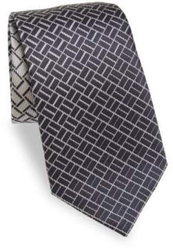 Armani Collezioni Silk Geometric Tie