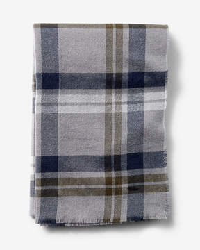 Express Fringe-Trim Plaid Scarf
