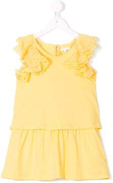 Chloé Kids ruffled sleeve dress