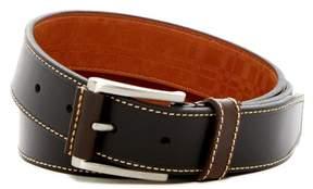 Boconi Topstitched Leather Belt