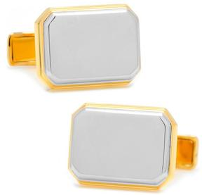 Ravi Ratan Two Tone Rectangular Cufflinks