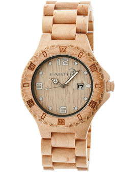 Earth Wood Raywood Khaki Bracelet Watch With Date Ethew1701
