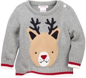 Joe Fresh Reindeer Knit Sweater (Baby Boys)