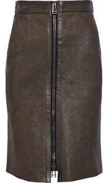 Belstaff Metallic Leather Skirt