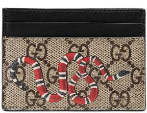 Kingsnake print GG Supreme card case