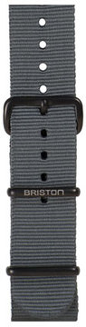 Briston 20mm Nylon NATO Watch Strap w/ Matte Buckle, Gray