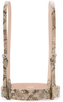 CITYSHOP snakeskin effect suspender belt