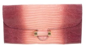 Saint Laurent Lizard Muse Clutch - PINK - STYLE