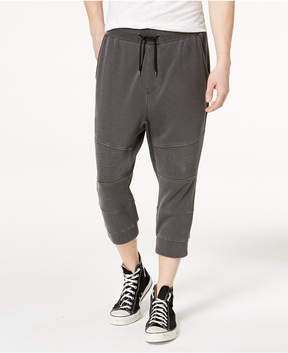 American Rag Men's Knit Cropped Moto-Style Jogger Pants, Created for Macy's