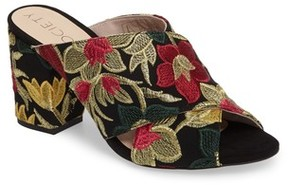 Sole Society Women's Luella Flower Embroidered Slide