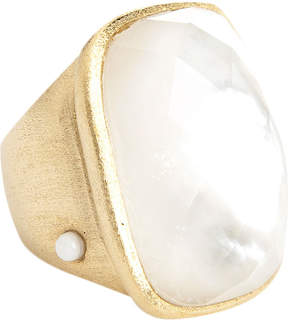 Rivka Friedman Women's 18K Gold Ring with Crystal & MOP