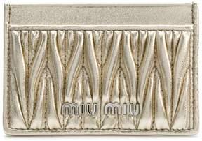 Miu Miu quilted card holder