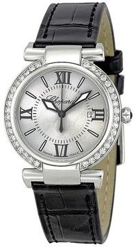 Chopard Imperiale Silver Dial Diamond Bezel Ladies Watch