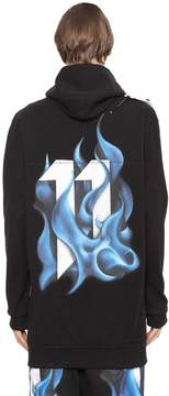 11 By Boris Bidjan Saberi Hooded Printed Stretch Jersey Sweatshirt