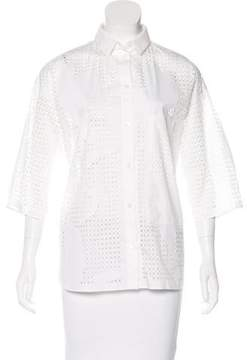 Tod's Laser Cut Button-Up Top