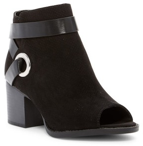 Qupid Dixie Low Block Heel Bootie