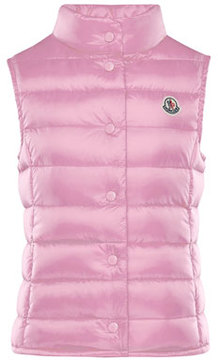 Moncler Liane Down Lightweight Down Puffer Vest, Pink, Size 8-14