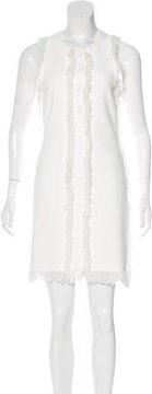 Edun Fringe-Trimmed Sleeveless Dress