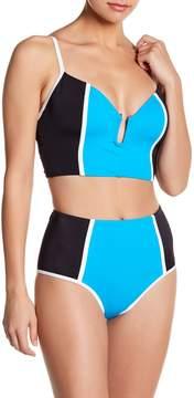 Ach'e A Che' Taline Colorblock Bandeau Bikini Top