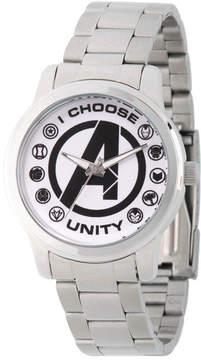 Marvel Classic Mens Silver Tone Strap Watch-Wma000054