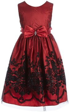 Jayne Copeland Little Girls 2T-6X Embroidered Bow-Sash Dress