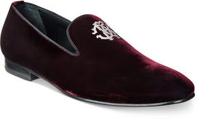 Roberto Cavalli Men's Metal Crest Velvet Loafers Men's Shoes