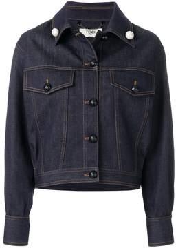 Fendi embellished logo denim jacket