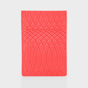 Paul Smith No.9 - Coral Leather Credit Card Holder