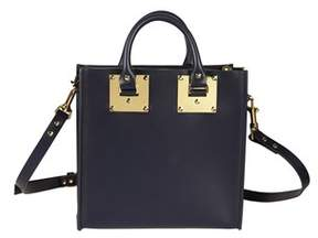 Sophie Hulme Women's Bg151lenavy Blue Leather Handbag.