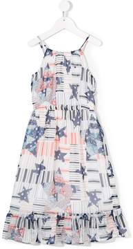Tommy Hilfiger Junior logo print long dress